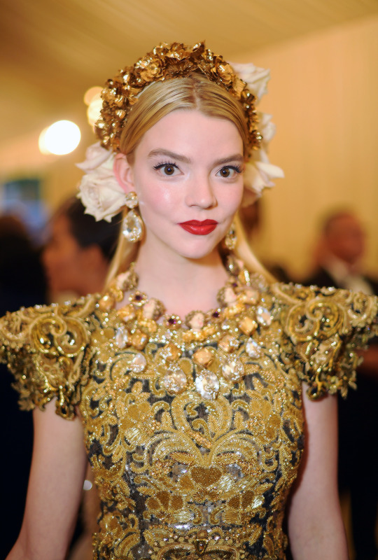 Anya Taylor-Joy attends the 'Heavenly Bodies: Fashion & The Catholic Imagination' Costume Institute Gala at The Metropolitan Museum of Art in New York City (May 7, 2018).