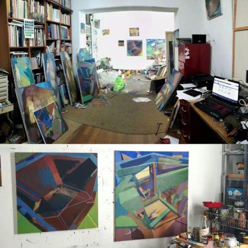 #Studio #EggtemperaOil #stateoftheday #oiloncanvas #oilpainting #instaart #painting #grid #contemporaryart #peinture #fineart #berlinart #christophkern #malerei #contemporarypainting #artoftheday #modernpainting