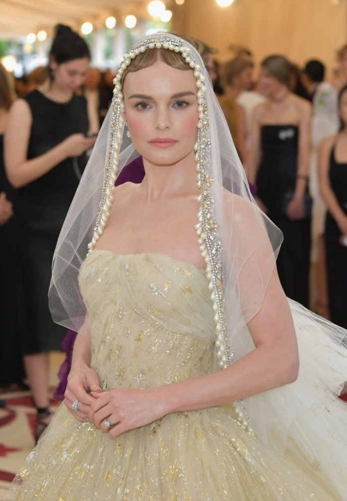Kate Bosworth attends the Heavenly Bodies: Fashion & The Catholic Imagination Costume Institute Gala at The Metropolitan Museum of Art on May 7, 2018 in New York City.