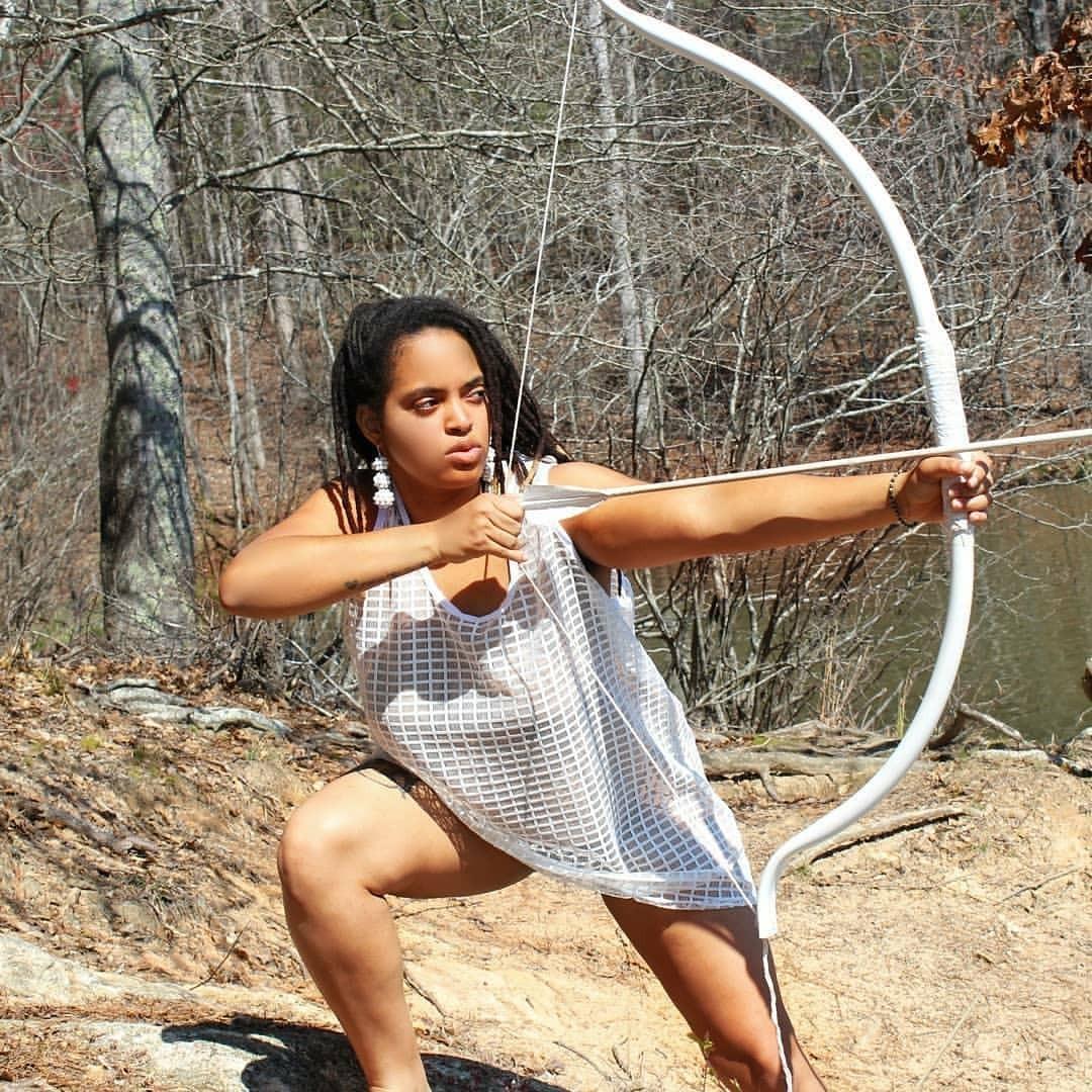 "Way to go Queen! #LiveThatGardenLife . .. #Repost @queen__tut ・・・ .""I shoot arrows of Peace hoping that it penetrates in the Hearts of Hate"" .-♐Queen Tut ♐ . .🌻Yeye Opa Doyeen OsunDara Olugbala🌻 .New Skill Unlocked! . .#archer #sagittarius #melanin..."
