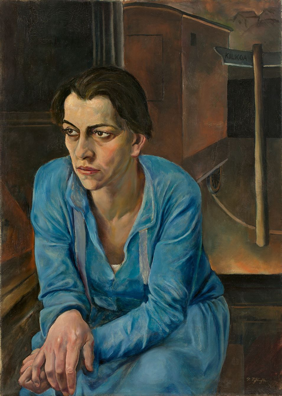 "thunderstruck9: "" Rudolf Schlichter (German, 1890-1955), Portrait of Helene Weigel, 1928. Oil on canvas, 83.5 × 60 cm. Helene Weigel (1900-1971) was a German actress and artistic director of the Berliner Ensemble """