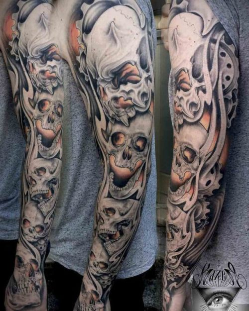 Skulls Tattoo Sleeve Best Tattoo Ideas Gallery Tattoos Inspo