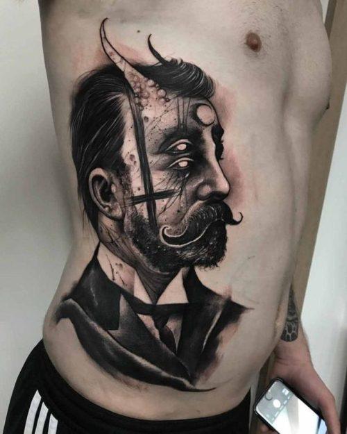 Victorian Demon Guy Tattoo Best Tattoo Ideas Gallery Tattoos Inspo