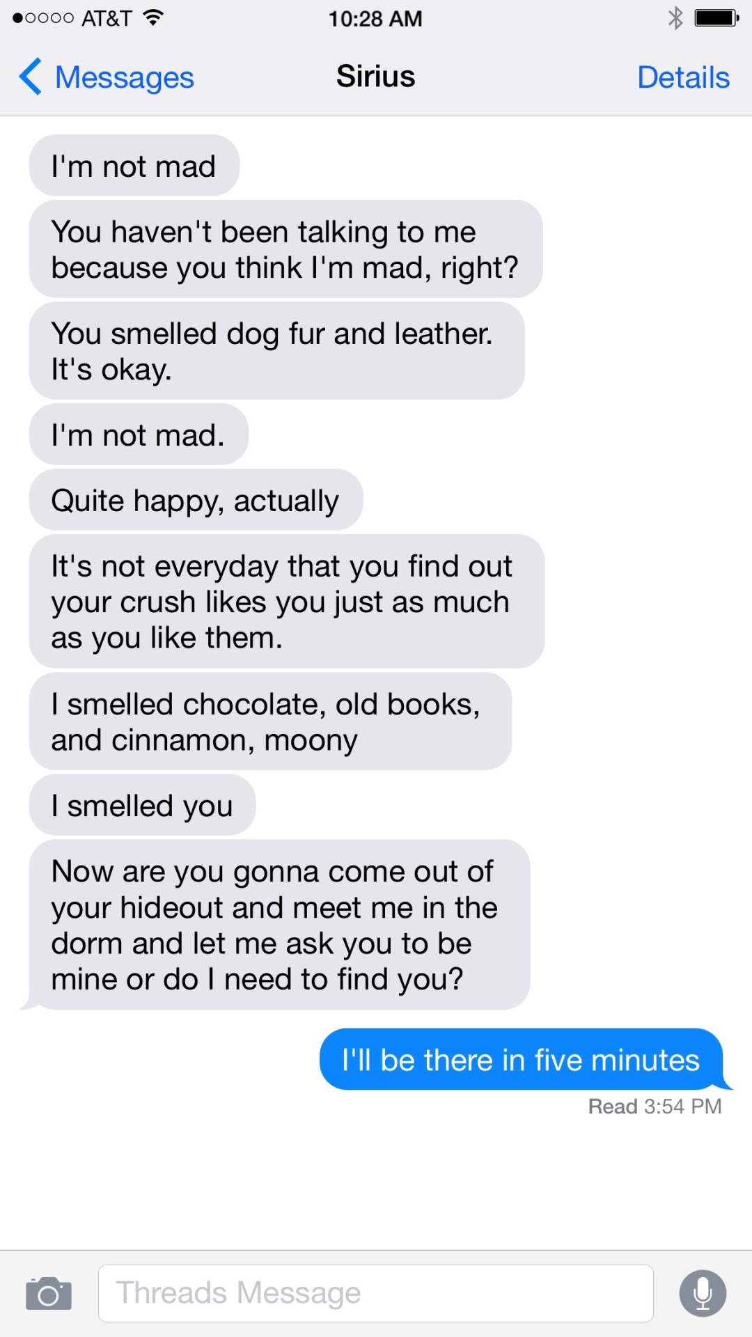 Drarry Amp Wolfstar Texts Remus Smells Dog Fur And