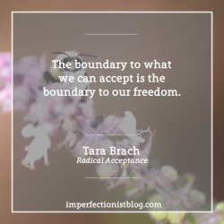 "#352 - ""The boundary to what we can accept is the boundary to our freedom."" - Tara Brach (Radical Acceptance)"