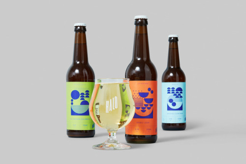 """tumblr_p2gajza2dS1r5vojso5_500 Packaging Design for Halo Brewery by way of Underline Studio""""Halo is an... Design"""