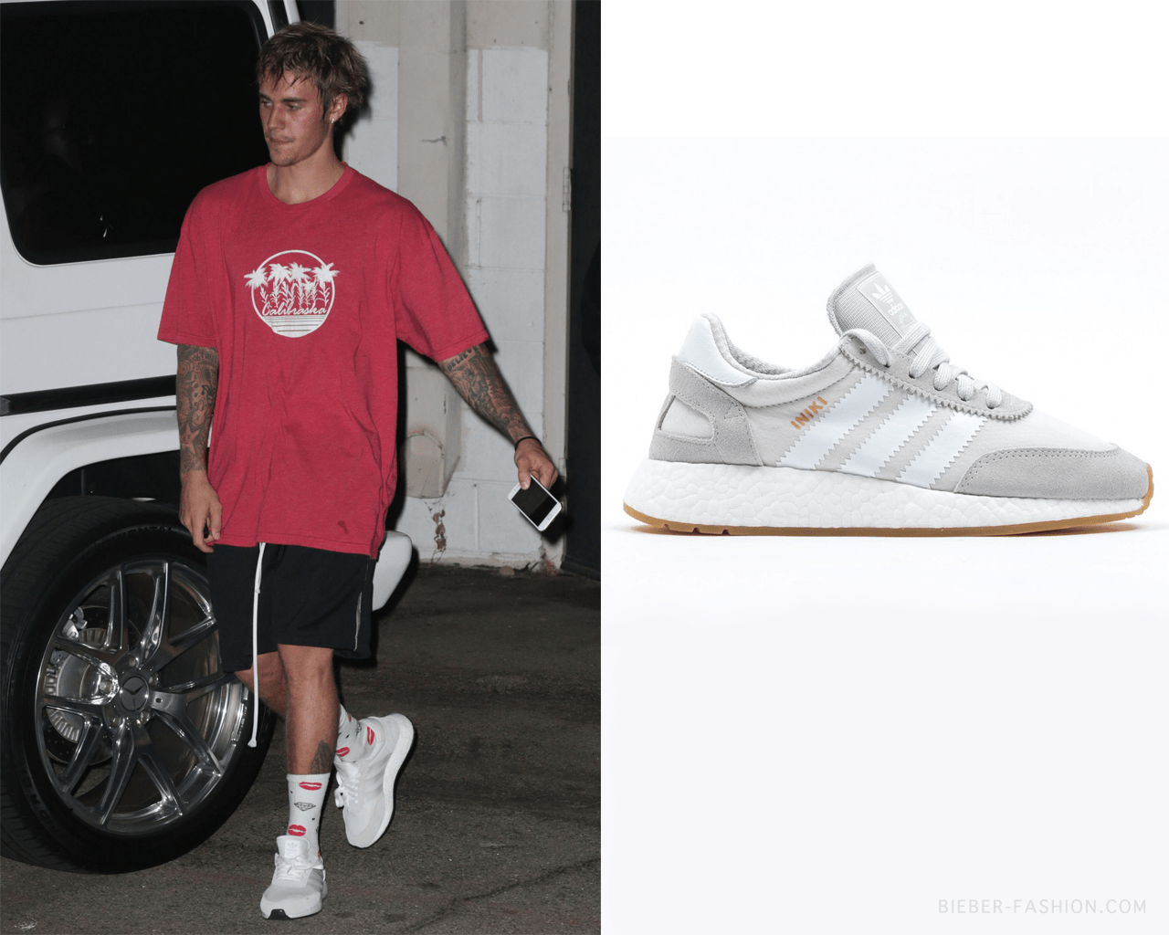 Bieber Fashion Adidas Originals Iniki Runner Shoes In Footwear Justin Bieber
