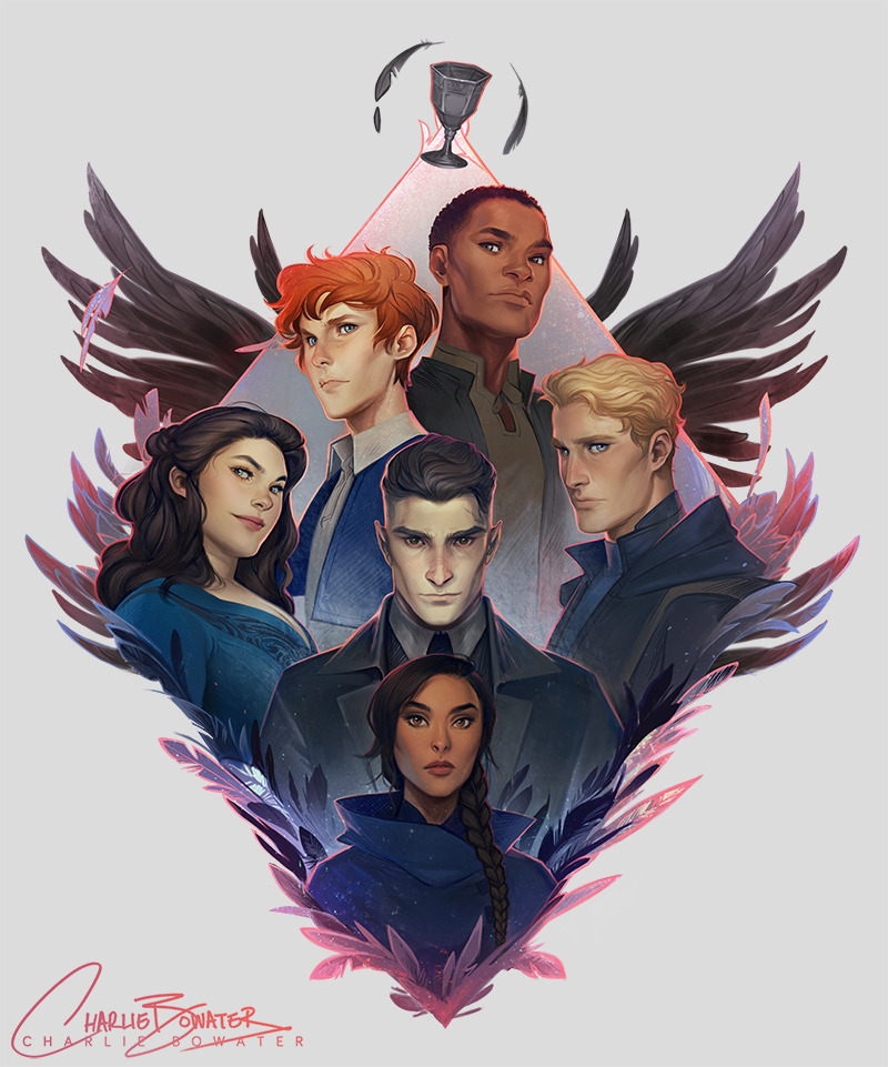 Plenty of you lovely book nerds already spotted it but now I can share my Six of Crows gang illustration for the @illumicrate Grisha Box! ✨For those asking: it's currently exclusive to Illumicrate but might be available in my shop in a few months,...