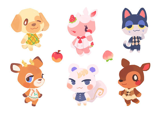 d697bcee2 Animal Crossing Villager Stickers made by ieafy – Nostalgia