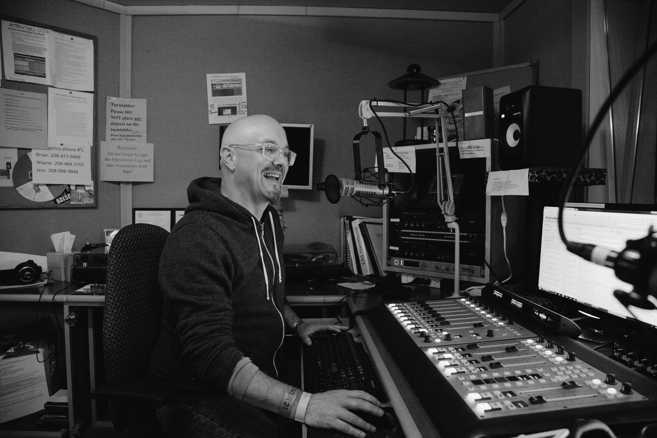 DJ Dusty C on the air! Happy face, serious, what da ya want? AS