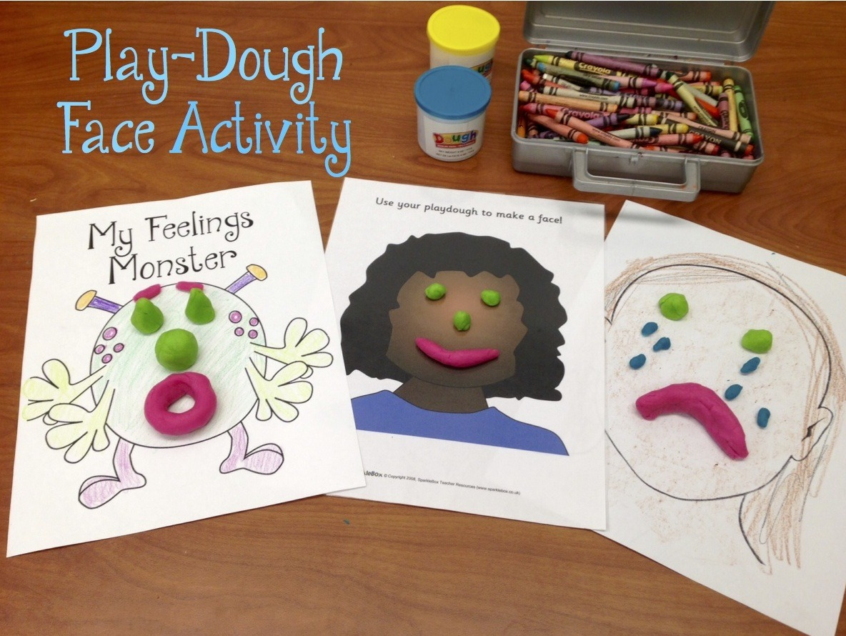 Play Dough Feelings Face Activity This Is A