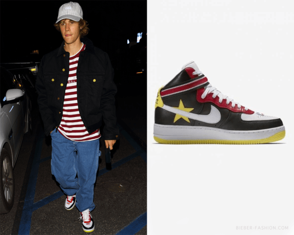 c8ae7dd611de8e Nike x Riccardo Tisci Air Force 1 High in Gym … – Justin Bieber