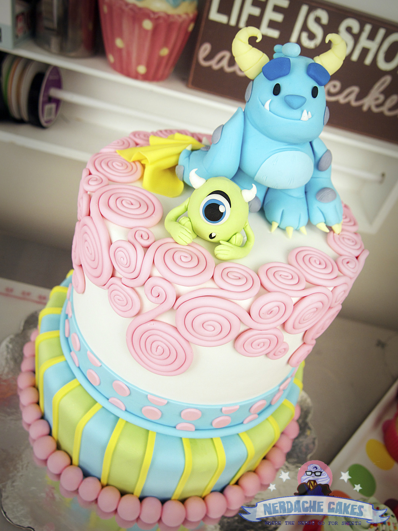 Monsters Inc 1st Birthday Cake A Super Cute Geeky