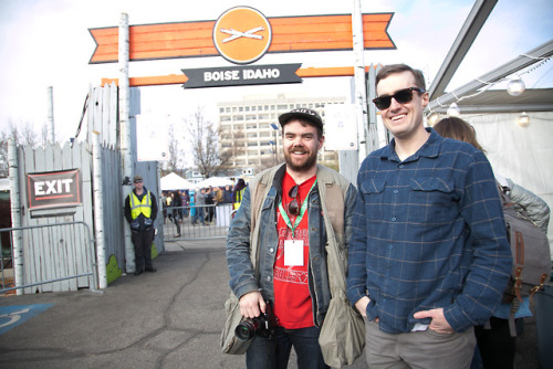 Day 4: Buds at the Main Stage! Alex and Benny. AS