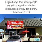 Legend says that few people are still trapped inside this restaurant
