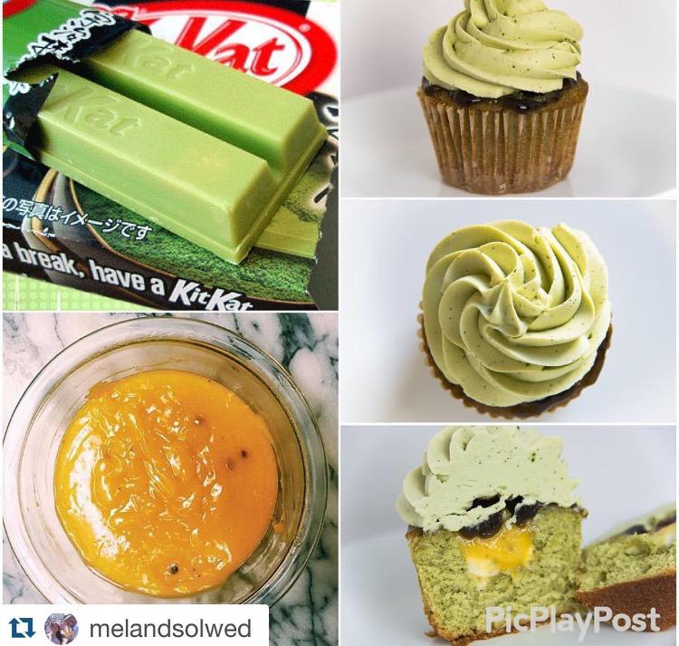 Mischief Maker Cakes I #Matcha Green Tea #Cake with #Yuzu, #vanilla bean, homemade vanilla, almond, #buttermilk, #sorghum, #ginger #beer.