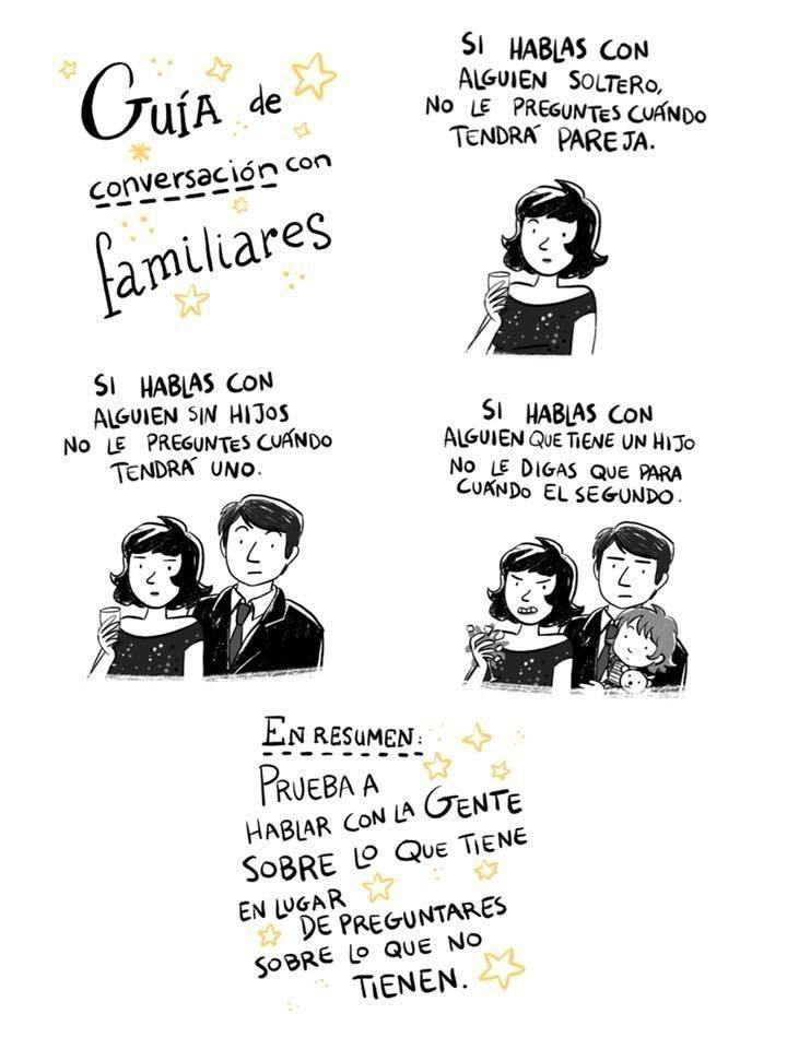 Guía de conversación con familiares