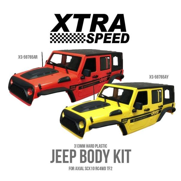 Xtra Speed Jeep Body Kit For Axial SCX10 RC4WD TF2 Get yours