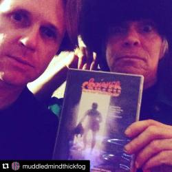 #Repost @muddledmindthickfog! Pure insanity! Major Entertainer Mike H and #Germs/#45Grave drummer Don Bolles highly endorse #ScienceCrazed!・・・Stayed up late watching Science Crazed with Don. Insane movie. #videonomicon #donbolles #45grave #MajorEntertainer #HorrorInMyLife