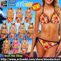 🌞 Sexy and Trendy Bikini for Summer Cool Vacation! BluedarkArt Designs 🌞
