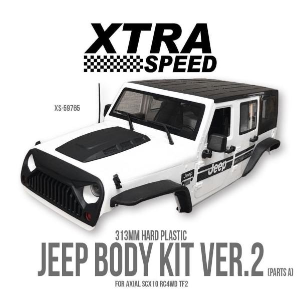 Xtra Speed Jeep Body Kit Ver 2 For Axial SCX10… – The RC