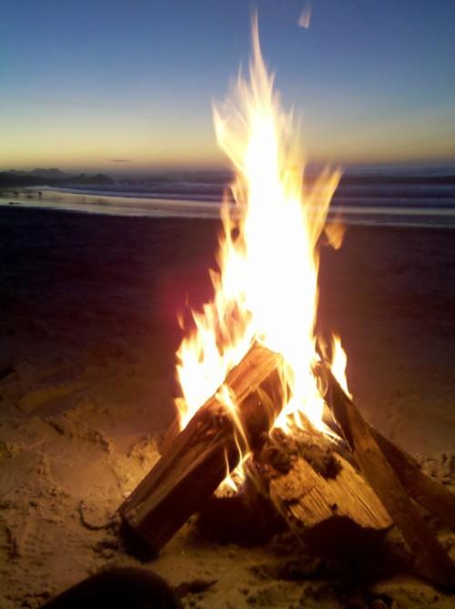 Beach Bonfire On Tumblr