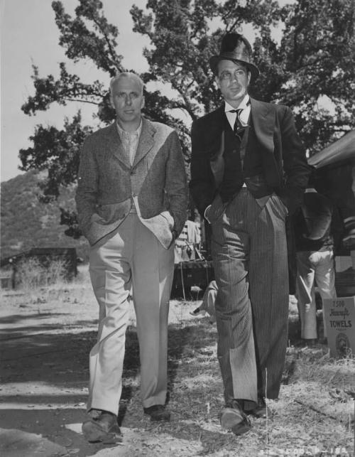 Howard Hawks on the set of Ball Of Fire with Gary Cooper