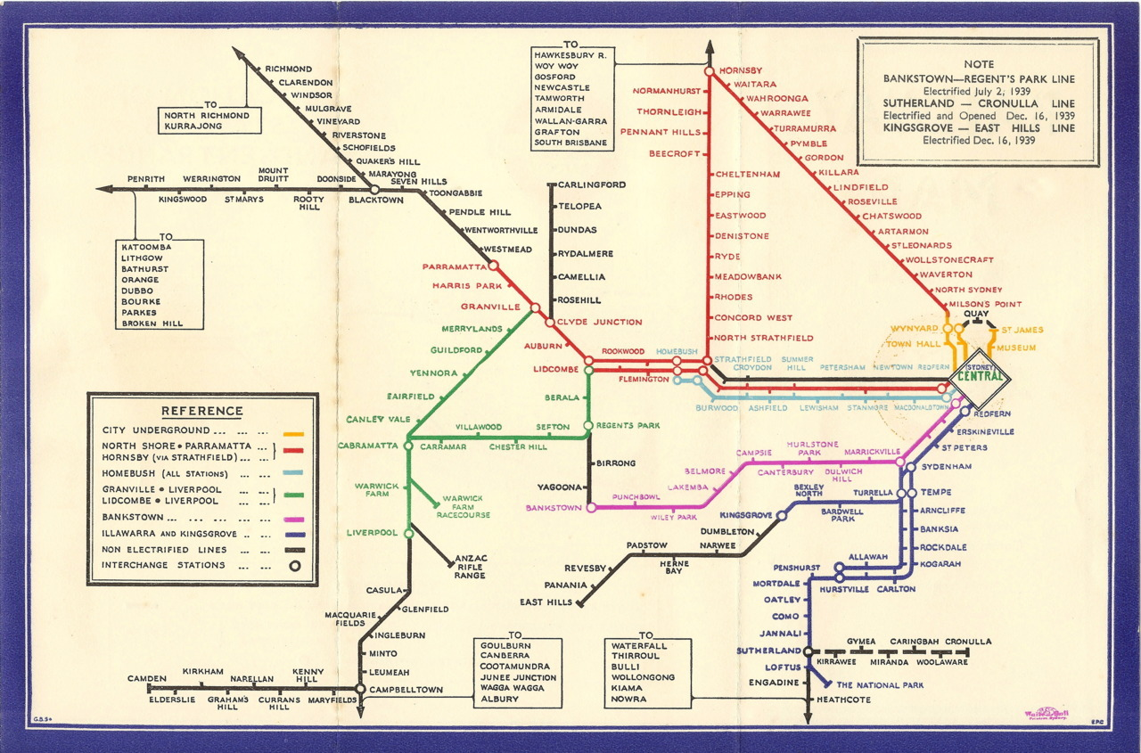 Historical Map Sydney Rail Map Just How