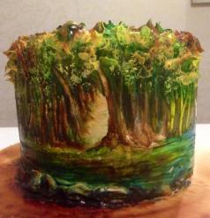Şeker hamuru üzeri resimleme / pasta boyama / fondant painting / cake painting