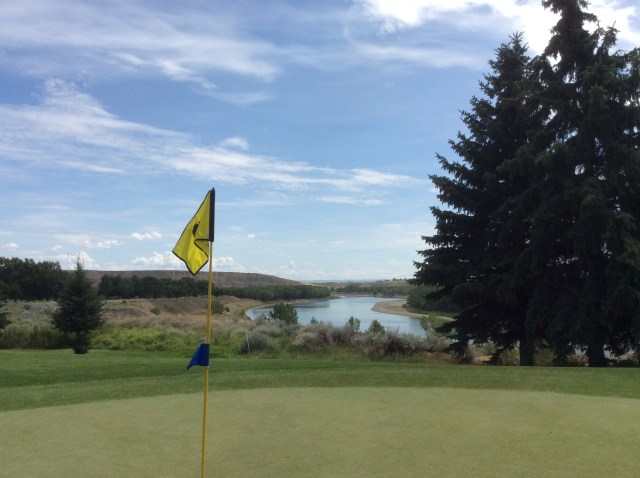 Medicine Hat Golf and Country club with the Saskatchewan River in the background