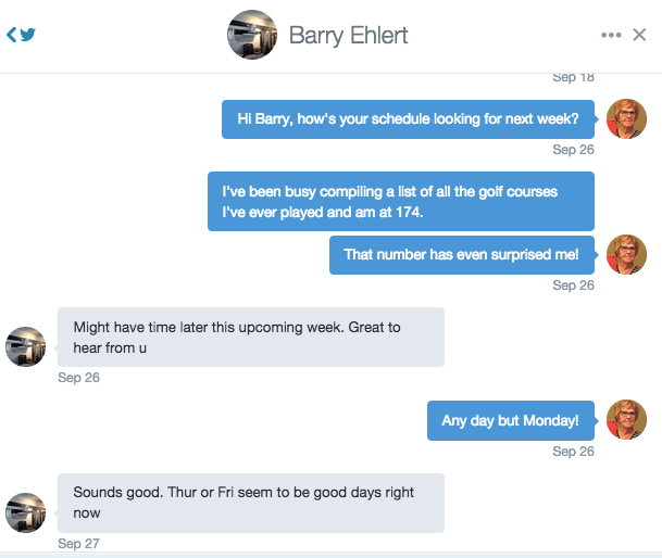 Twittering with Barry Ehlert
