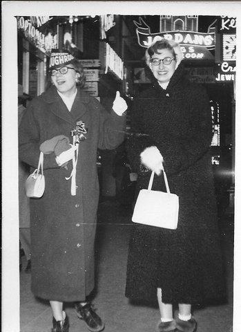 Maureen O'Shea and Mary Maryniak November 17, 1956 in Edmonton, Alberta