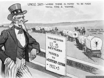 Uncle Sam and Homesteading in Canada