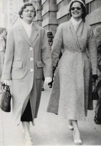 Maureen and her sister Marjorie in downtown Regina, Saskatchewan