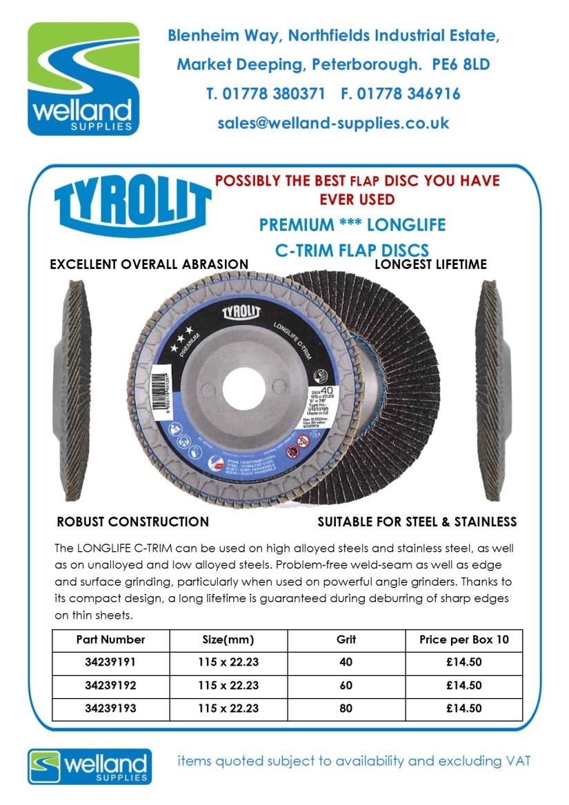 2017 TYROLIT C-TRIM FLAP DISCS