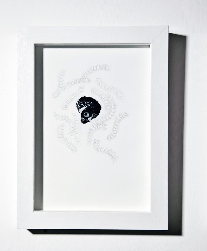 Chiara Dellerba, Untitled#2, mixed media on paper, cm 29,7x21, 2014