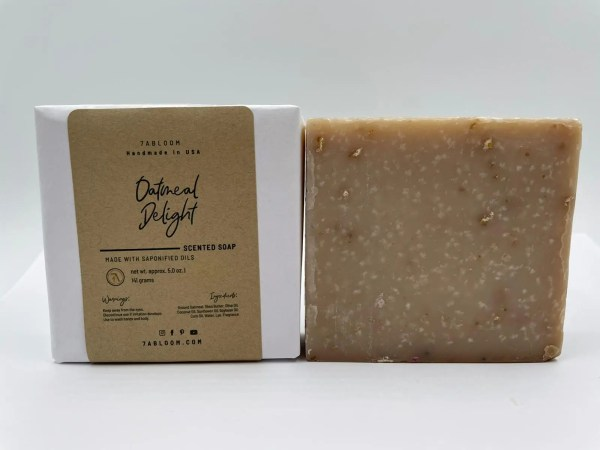 7 Abloom Oatmeal Delight bath soap