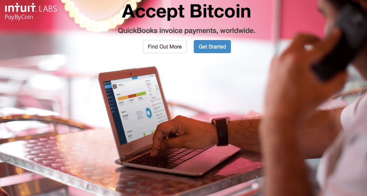Intuit PayByCoin will help you to accept bitcoins
