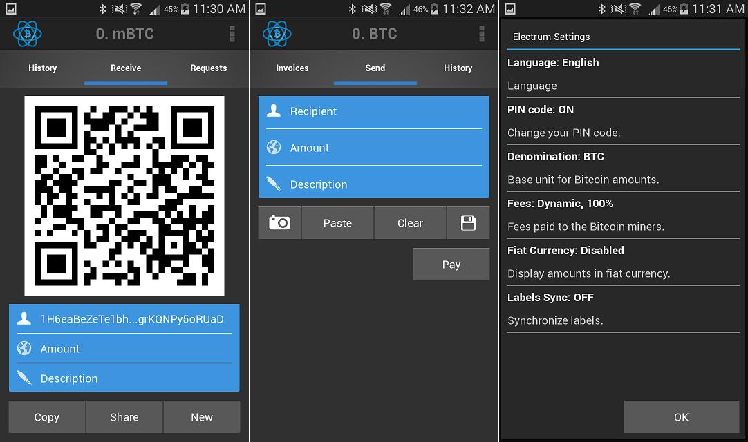 Electrum Bitcoin Wallet App