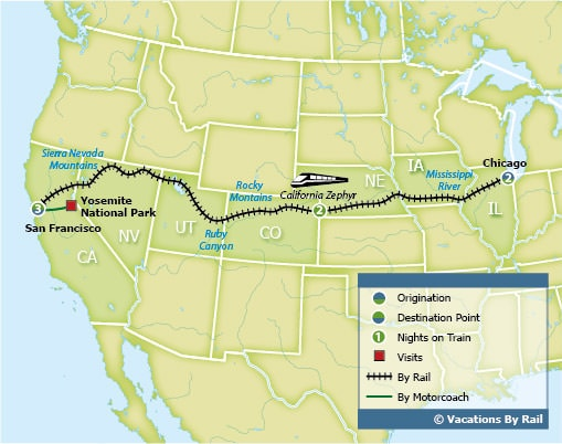 California Zephyr Map