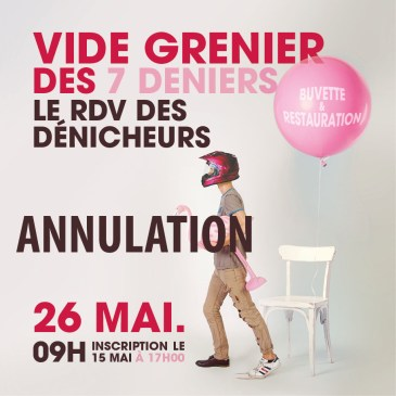 ANNULATION VIDE GRENIER DU DIMANCHE 26 MAI 2019