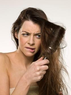 detangle hair tips