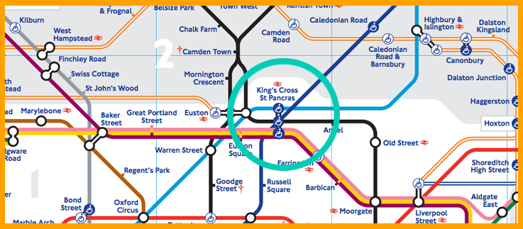 Image result for st pancras underground map