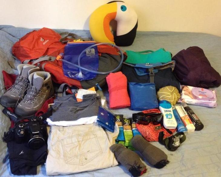 Organizando a mochila