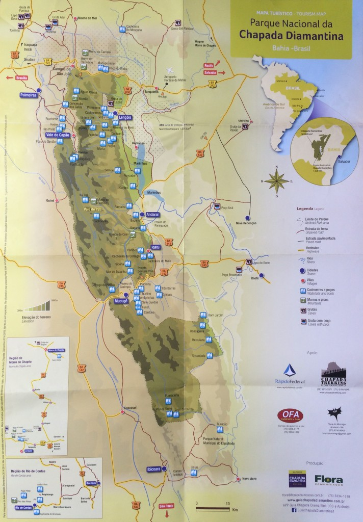 Mapa da Chapada Diamantina - Guia oficial