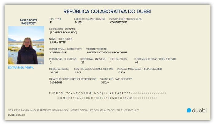 Dubbi - Passaporte - 7 Cantos do Mundo