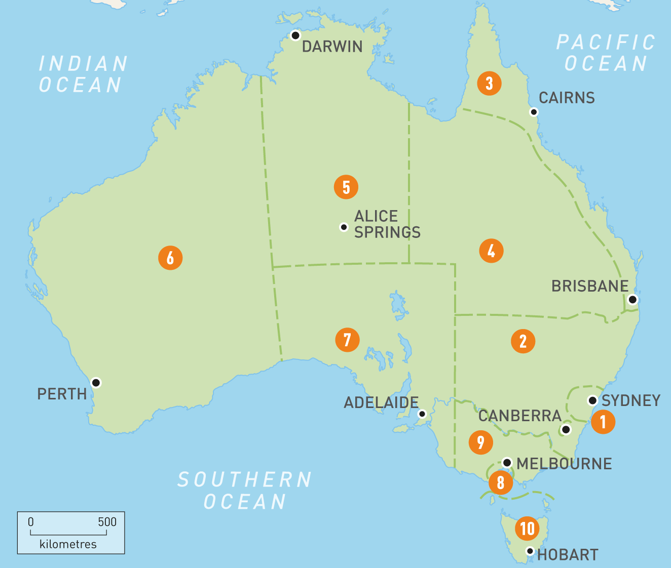 Australia Map Oceans.7 Continents Of The World And 5 Oceans List