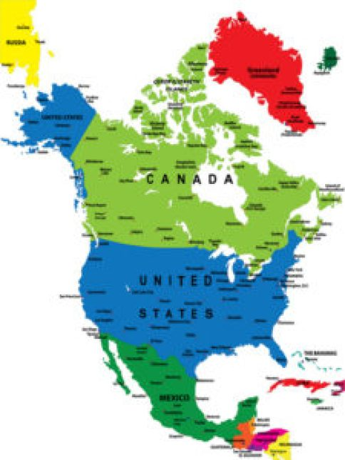 North America – 7 Continents and 5 Oceans of the World