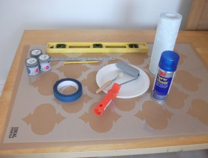 mAterials for stencilling project