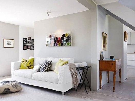 Yellow Paint Color For Living Room White Home Interior